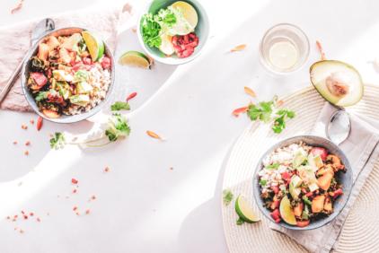 Bowls de comida saludable