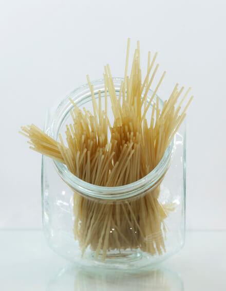 Espaguetti de arroz y quinoa
